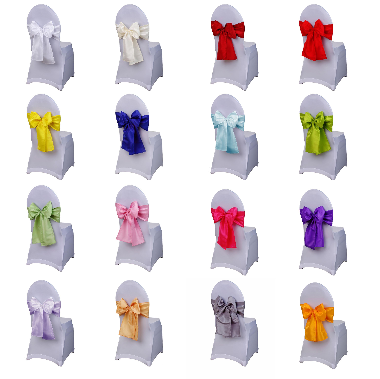 schleifenb nder aus taft stuhlschleifen schleifen f r stuhlhussen dekoration ebay